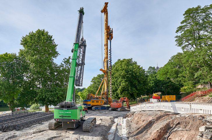 Gründungsarbeiten am Regenüberlaufbecken ©Thomas Göttemann