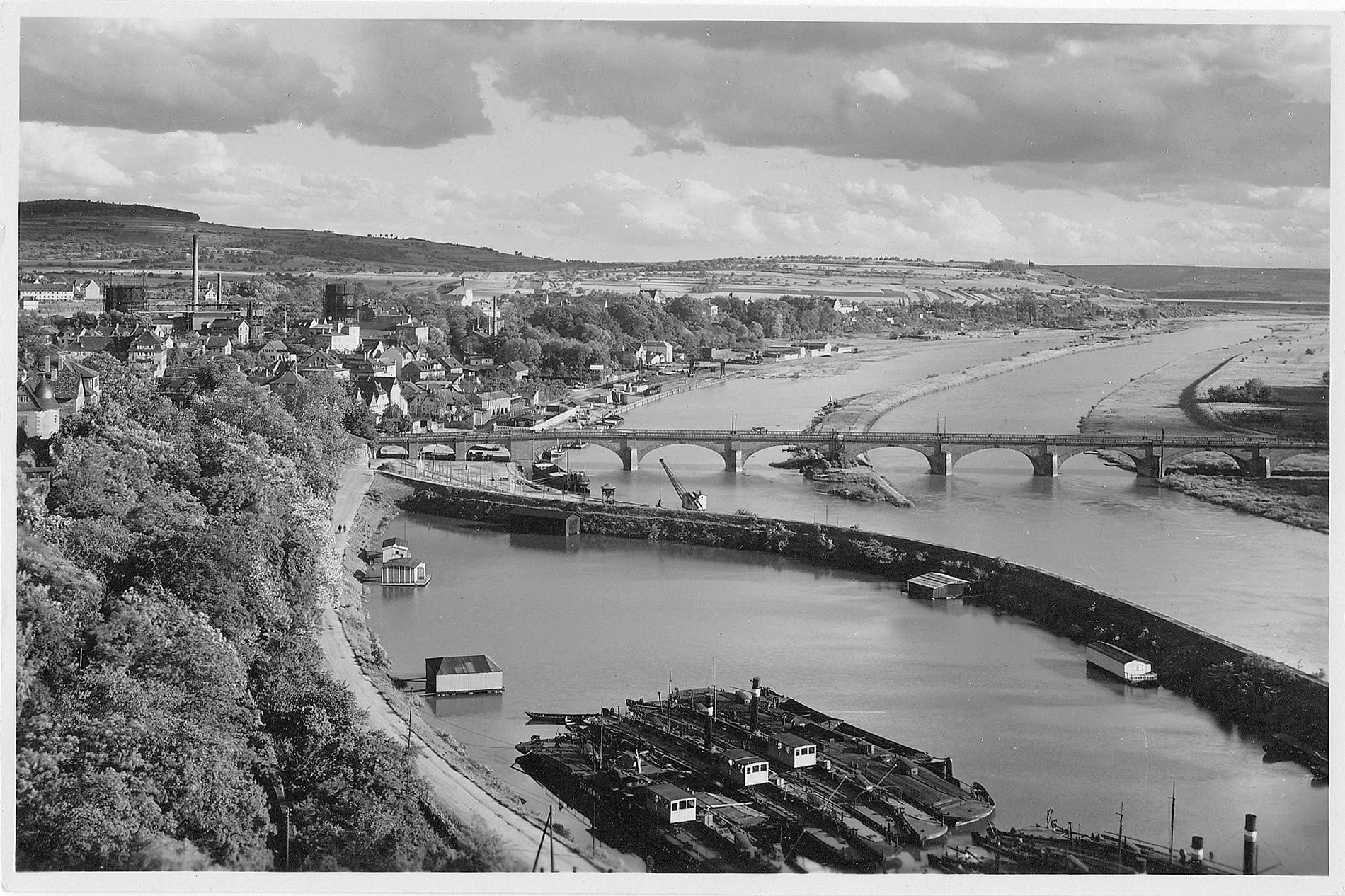 © Luftaufnahme, Sammlung Stadelmann. Stadt- und Stiftsarchiv Aschaffenburg, Ansichtskartensammlung