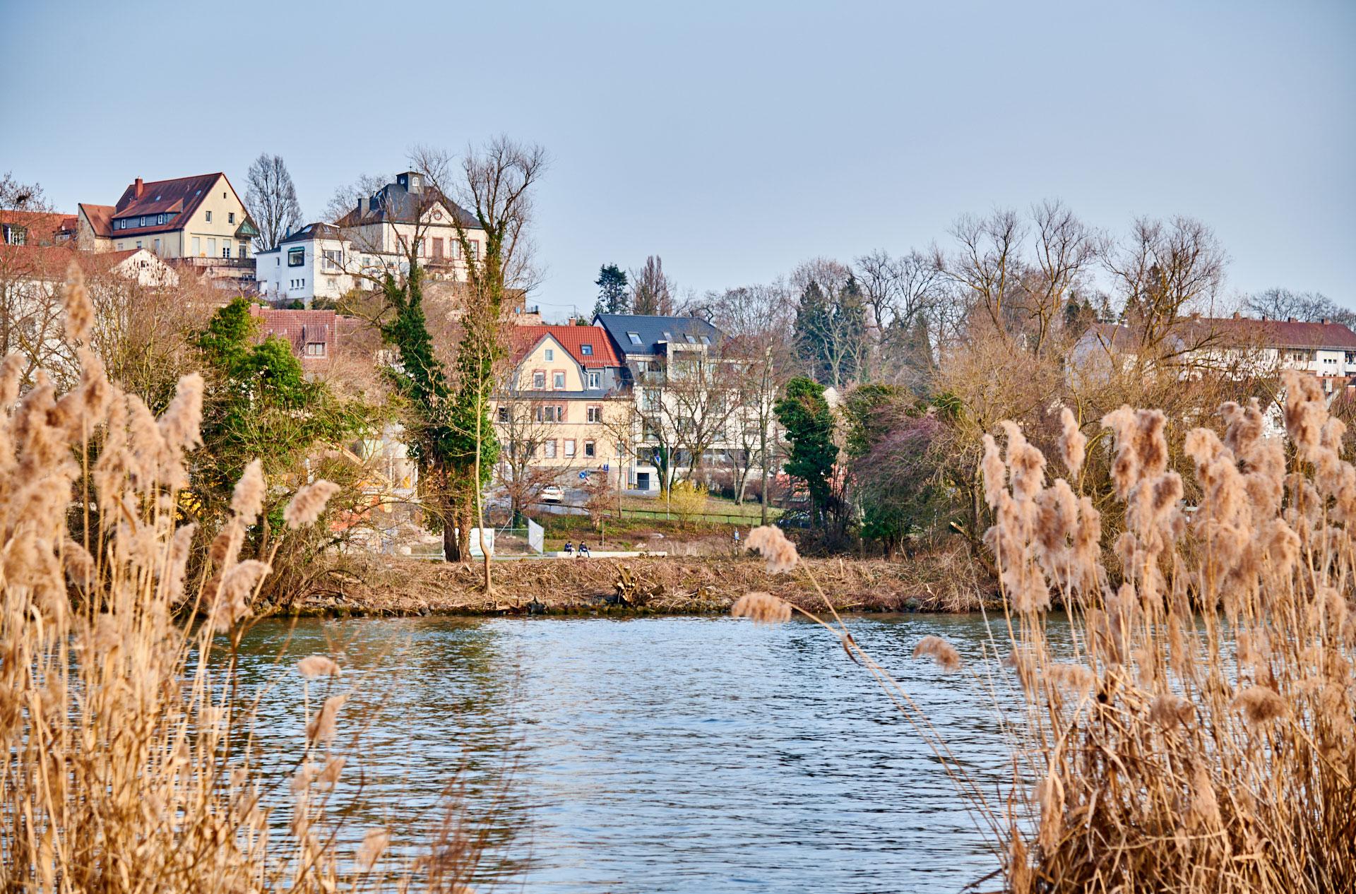 Blick vom Volksfestplatz Richtung Schlossufer (Blickrichtung Stiftsherr über die obere, kleinere Sichtschneise ©Thomas Göttemann